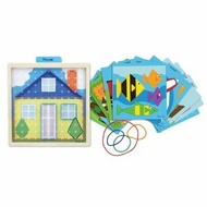 Melissa and Doug Stretch and Match Geo Board - click to enlarge