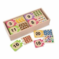 Melissa and Doug Self-Correcting Numbers Wooden Puzzle Cards - click to enlarge