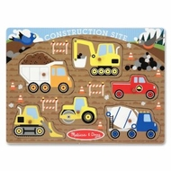Melissa and Doug Construction Site Peg Puzzle - click to enlarge