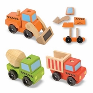 Melissa and Doug Stacking Construction Vehicles - click to enlarge
