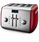 KitchenAid KMT422ER 4-slice Mid Line Manual Toaster, Empire Red