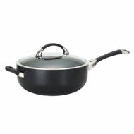 Circulon Symmetry Hard Anodized Nonstick 6-Quart Covered Chef Pan with Helper Handle - click to enlarge