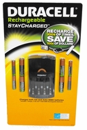 Duracell StayCharged Rechargeable NiMH Battery Value Pack with 4AA, 4AAA, and Charger - click to enlarge