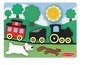 Melissa and Doug Chunky Puzzle Scene : Red Caboose