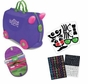 Melissa and Doug Carry-On Kids Luggage Iris Purple/Saddle Bag/Sticker Set