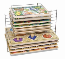 Melissa and Doug Deluxe Wire Puzzle Rack - click to enlarge