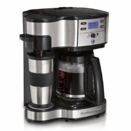 Hamilton Beach 49980 Two Way Brewer Single Serve and 12 cup Coffee Maker - click to enlarge