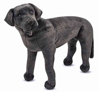 Melissa and Doug Black Lab: Plush - click to enlarge