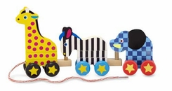 Melissa And Doug: Pull Along Zoo Animals - click to enlarge