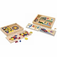 Melissa and Doug See & Spell w/ Pattern Blocks & Boards - click to enlarge