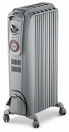 DeLonghi TR0715 Safeheat 1500W Basic Portable Oil Filled Radiator, Light Gray - click to enlarge