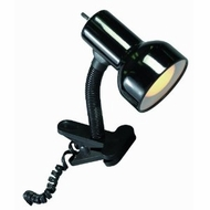Satco Products SF76/226 Flexible Goose Neck Clip on Lamp with Coiled Cord, Black - click to enlarge