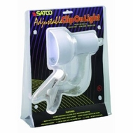 Satco Products SF76/227 Flexible Goose Neck Clip on Lamp with Coiled Cord, White - click to enlarge
