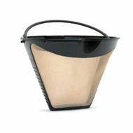 Fresco KF-4TGoldtone Cone Shaped Coffee Filter - click to enlarge