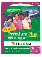 FujiFilm Inkjet Premium Plus Paper Glossy 8.5 x 11 20 pack- Expired Rebate - click to enlarge