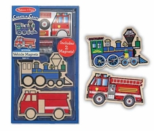 Melissa and Doug Create a Craft Party Favors : Wooden Vehicles Magnets - click to enlarge