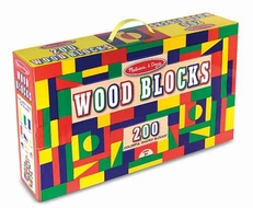 Melissa and Doug 200 Wood Blocks Set - click to enlarge