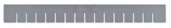 Quantum Storage DL93030 Long Divider for DG93030 Dividable Grid Container Gray - 6 pack - click to enlarge