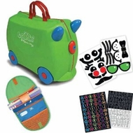 Trunki by Melissa & Doug Wheeled Carry-On Kids Luggage - Jade Green with Coordinating Saddle Bag and Decorative Sticker Set - click to enlarge