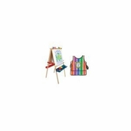 Melissa and Doug 1282 Melissa and Doug Deluxe Wooden Standing Art Easel with Smock - click to enlarge