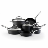 KitchenAid 82544 Gourmet Hard Anodized Nonstick 10-Piece Cookware Set, Charcoal / Black - click to enlarge