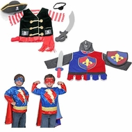 Melissa & Doug Pirate Super Hero and Knight Costume Role Play Set of 3 - click to enlarge