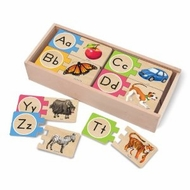 Melissa and Doug #2541 Alphabet Wooden Puzzle Cards - click to enlarge