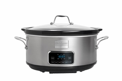 Stainless Steel Digital Slow Cooker, 7 Quart - click to enlarge