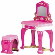 American Plastic Toys Deluxe Vanity with 13 Accessories : Made in America - click to enlarge