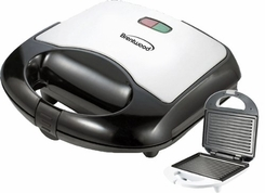 Brentwood Panini Maker Black and Stainless Stee - click to enlarge