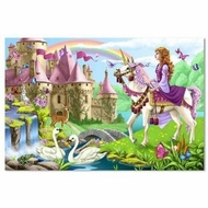 Melissa and Doug 4427 Fairy Tale Castle 48 Pc Floor Puzzle - click to enlarge