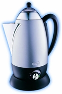 DeLonghi DP12ST Retro Cordless Percolator - click to enlarge