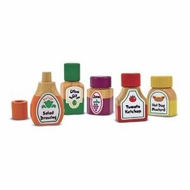 Melissa and Doug 3009 Wooden Magnetic Kitchen Bottle Collection - click to enlarge