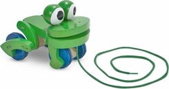 Melissa & Doug 3021 Frolicking Frog Pull Toy - click to enlarge