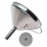 Norpro 5 1/2-Inch Stainless Steel Funnel with Detachable Strainer - click to enlarge