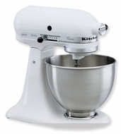 KitchenAid KSM75WH Classic Plus Tilt-Head 4-1/2-Quart Stand Mixer, White - click to enlarge