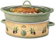 Rival SCVE500 5 Quart Embossed Slow Cooker