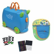 Melissa and Doug Trunki Terrence Ride On Luggage w Matching SaddleBag and Sticker Sets - click to enlarge