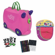 Trunki by Melissa and Doug Ride On Luggage with Descorative Stickers and Matching Saddlebag - click to enlarge