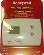 Honeywell RTH3100C Universal Heat Pump Thermostat - click to enlarge