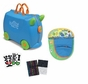 Melissa and Doug Trunki Terrence Ride On Luggage w Matching SaddleBag and Sticker Sets