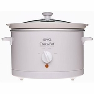 Crock-Pot 3060-W 6-Quart Round Slow Cooker, White - click to enlarge