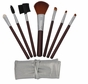 7pcs Brown Professional Cosmetic Makeup Make up Brush Brushes Set Kit with Silver Bag Cas