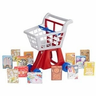 American Plastic Toys Deluxe Shopping Cart With Play Food - click to enlarge