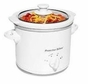 Proctor Silex 33116Y 1.5 Quart Slow Cookers, White