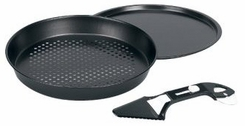 Keilen 330-41 Italian Villa 3-Piece Deep Dish Pizza Pan Set - click to enlarge