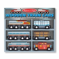 Melissa and Doug 641 Wooden Train Cars - click to enlarge