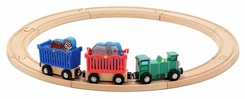 Melissa & Doug  643 Zoo Animal Train Set - click to enlarge