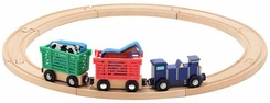 Melissa & Doug 644 Farm Animal Train Set - click to enlarge