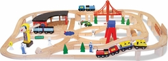 Melissa & Doug 701 Wooden Railway Set - click to enlarge